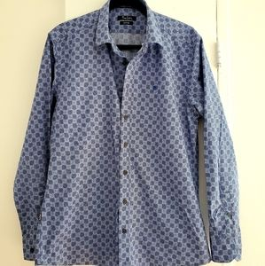Pierre Cardin Long sleeves shirt blue checked